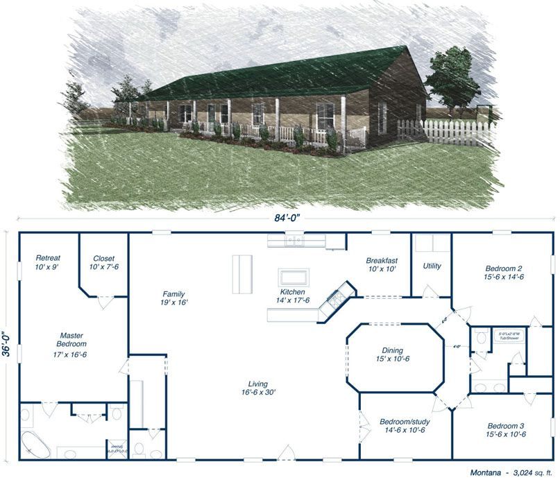 Click To Toggle The Montana Floor Plan Metal House Plans Building A House Steel Building Homes
