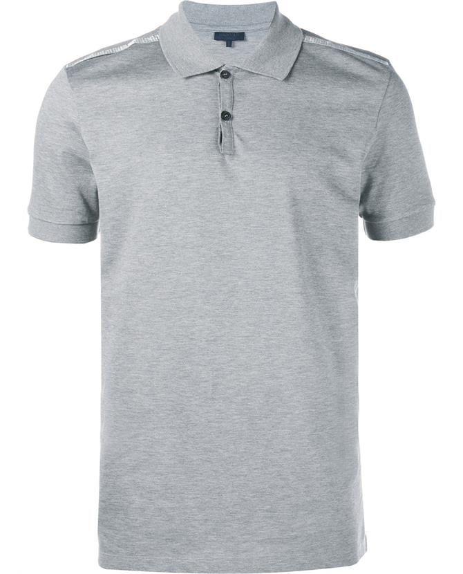 LANVIN Slim-Fit Polo Shirt With Lurex Ribbon Trim. #lanvin #cloth #