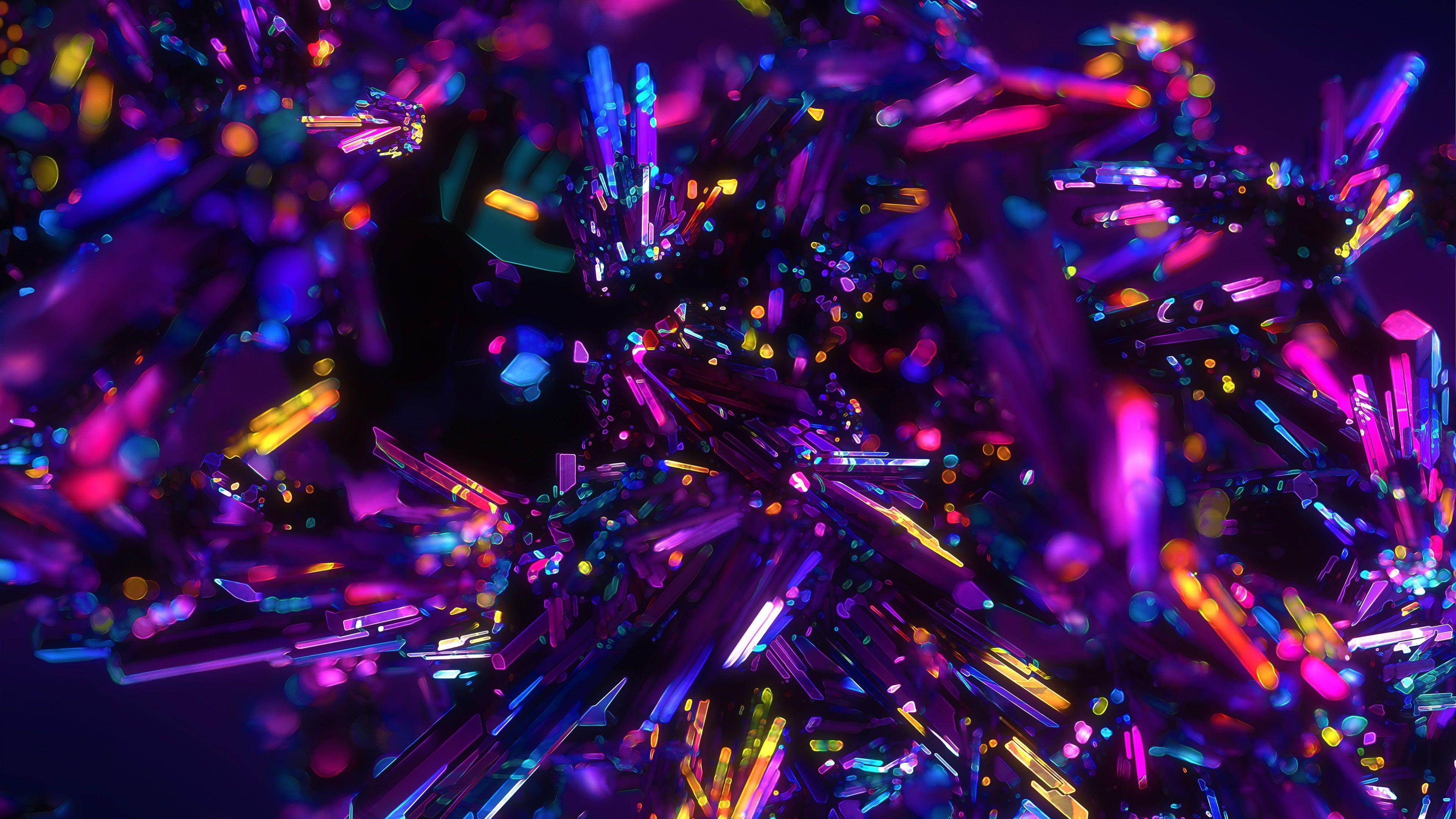 Purple Crystals Colors Cristal Colorful Crystal Glowing Glow Shining Shine 4k Wallp Anime Wallpaper Download Anime Scenery Wallpaper Neon Wallpaper