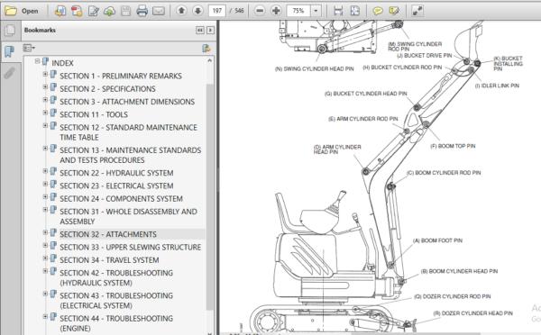 Fiat Kobelco E9sr Mini Crawler Excavator Service Repair Workshop Manual In 2020 Fiat Excavator Hydraulic Systems