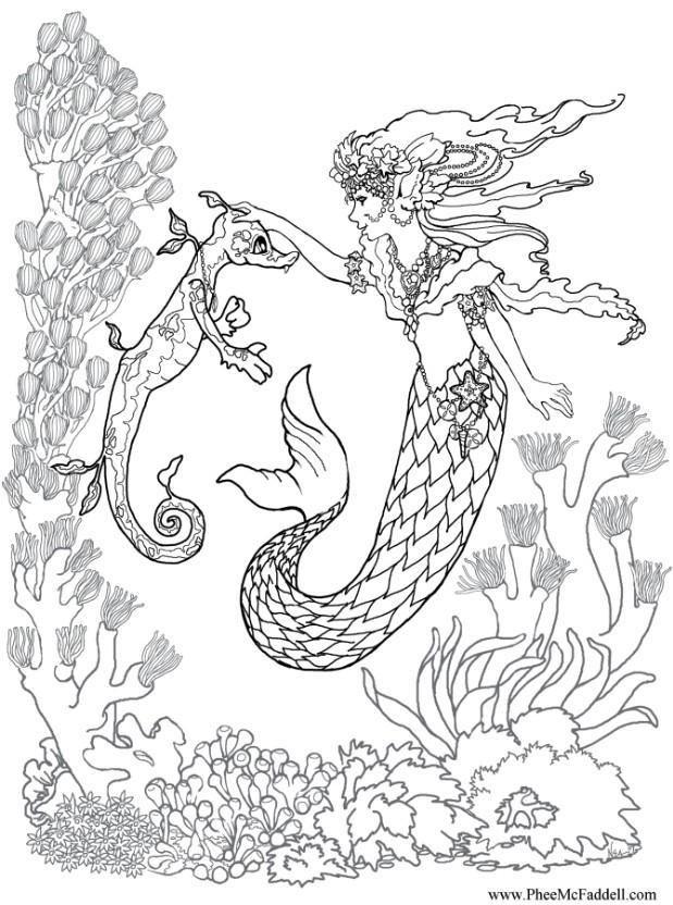 Printable Coloring Page Malvorlagen Pferde Realistische Meerjungfrau Malvorlagen Tiere