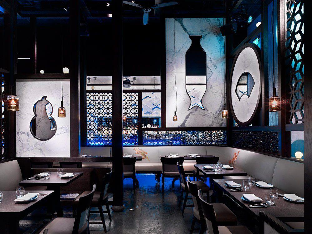 A glimpse inside Hakkasan Las Vegas restaurant, located in