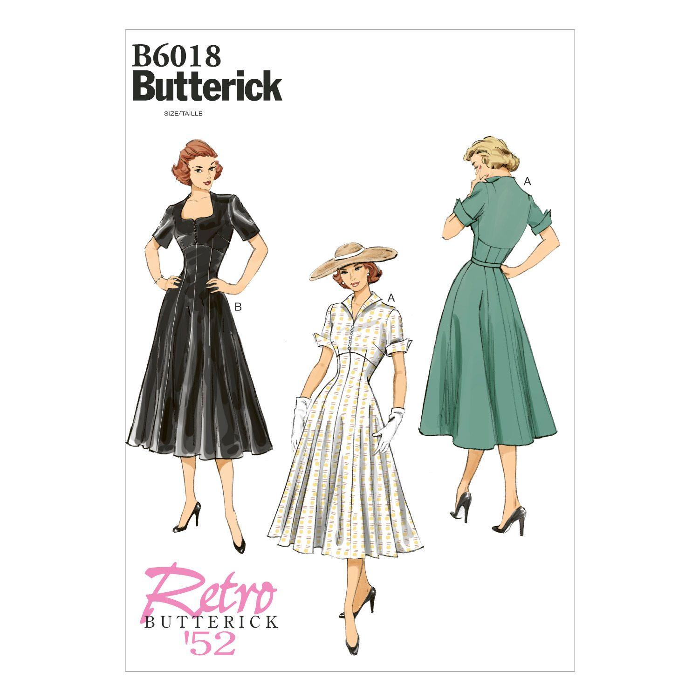 Butterick Misses Dress-B6018 | Vintage fashions | Pinterest | Sewing ...
