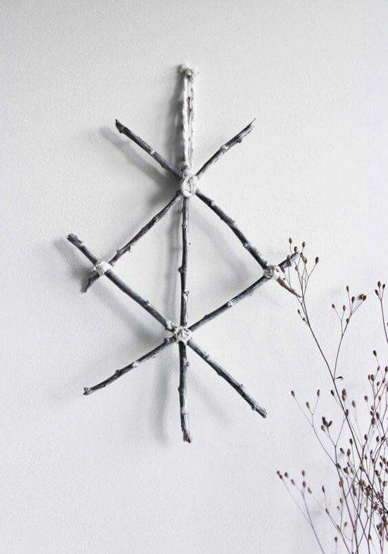 Protection Rune Made From Twigs Witchcraft Pinterest Runes