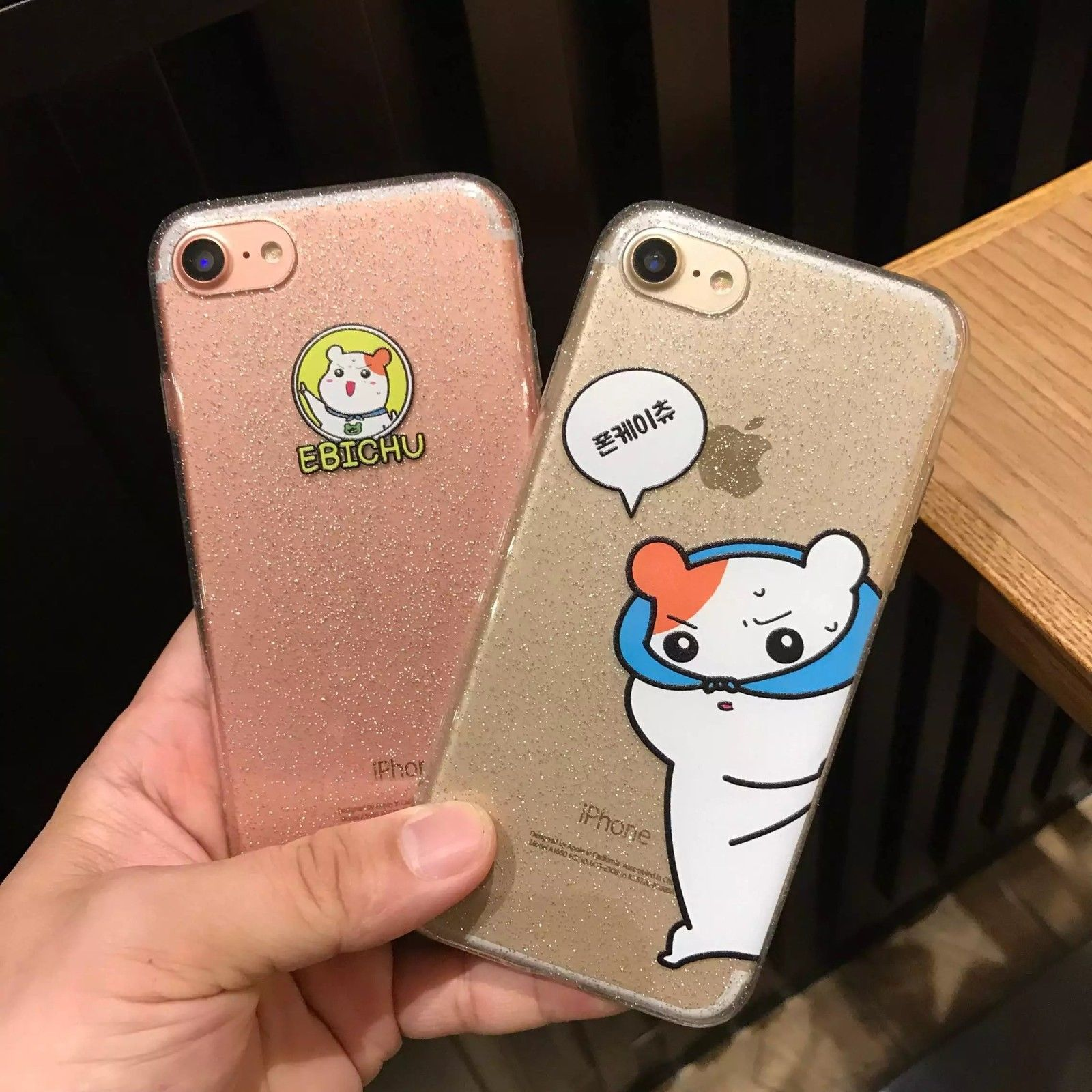 Funny Cute Animal Hamster Glitter Phone Case Cover For Iphone 6s 7p Korean Style Ebay Glitter Phone Cases Phone Cases Cute Cases