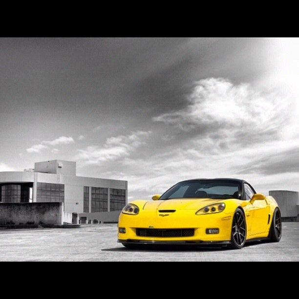 Yellow Chevrolet Corvette