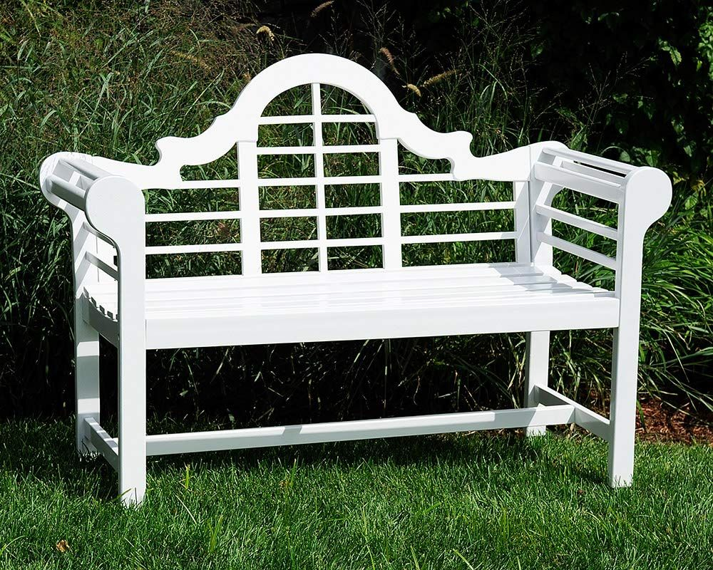 Achla Designs OFB01W Lutyen Bench White Amazon.co.uk