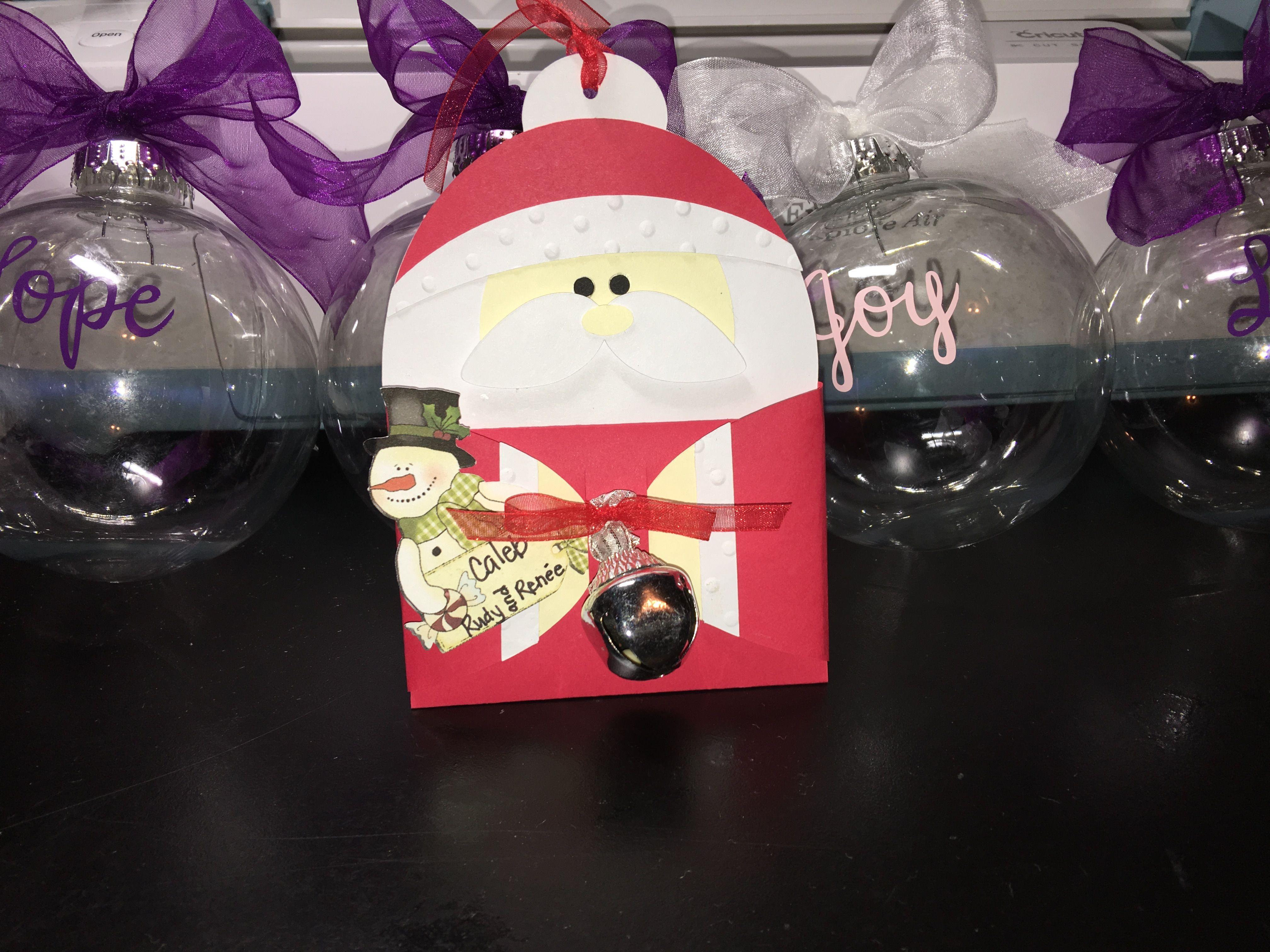 Cricut gift card holder christmas bulbs gift card