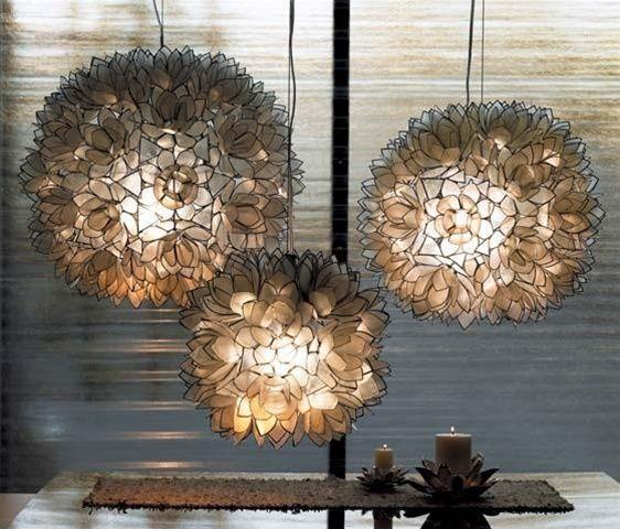 Lotus white capiz shell chandelier capiz shell chandelier shell lotus white capiz shell chandelier aloadofball Gallery