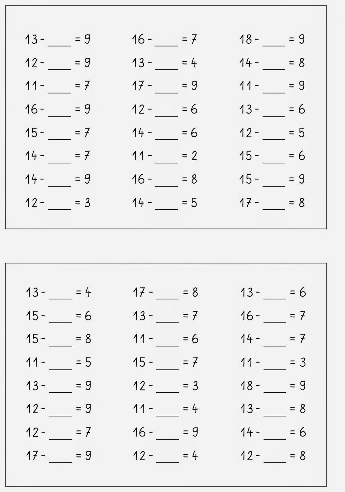 Lernstubchen Rechne Dich Fit Kartei Zr 20 Minus 1