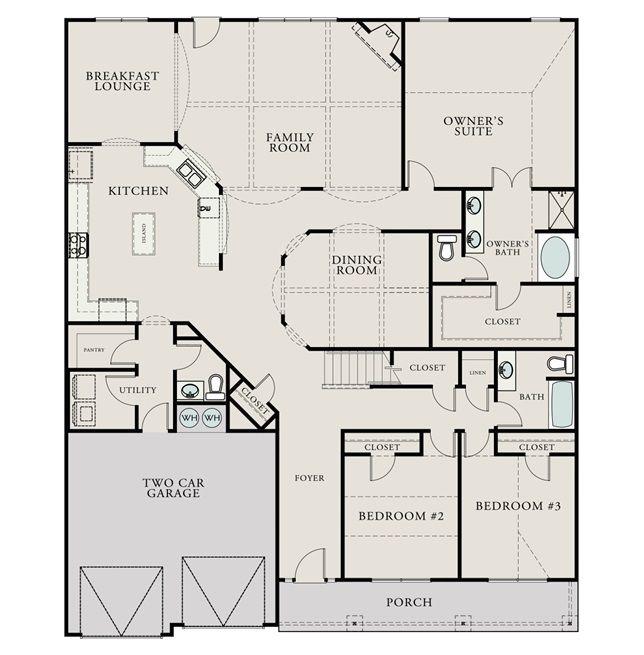 Junea Willow Creek Lexington South Carolina D R Horton Floor Plans House Plans Model Homes
