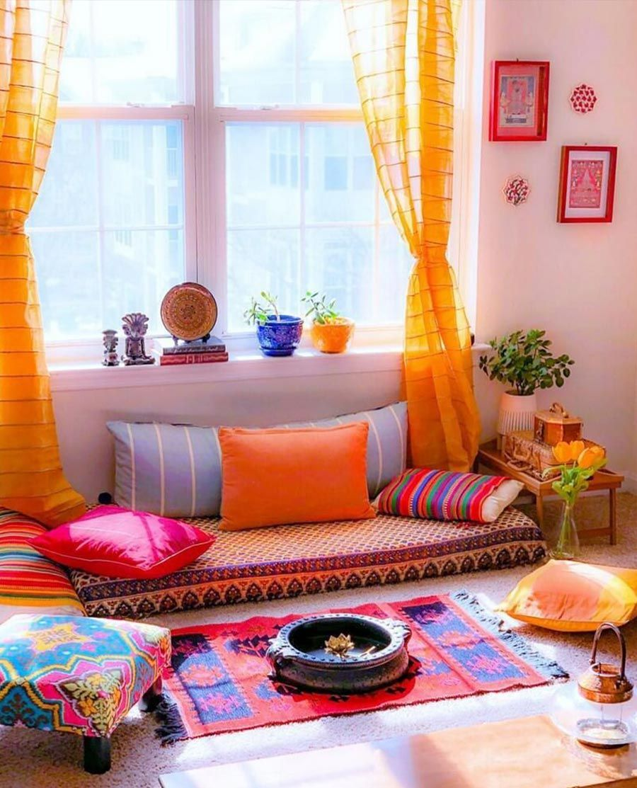 Festive Decor Inspirations For Lasting Impression Living Room Ideas Indian Bohemian Living Room Decor Colourful Living Room Decor Indian living room ideas