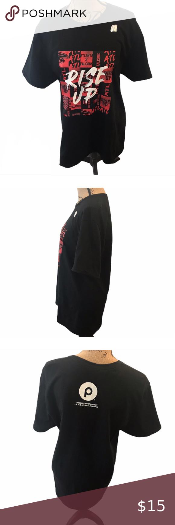 NWOT ATLANTA FALCONS Rise Up Black Tshirt in 2020 Black