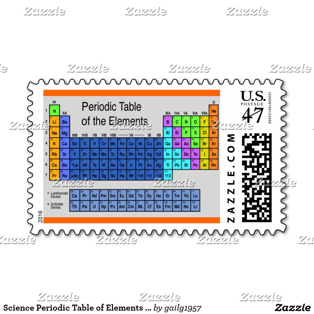 Science periodic table of elements gifts postage urtaz Choice Image
