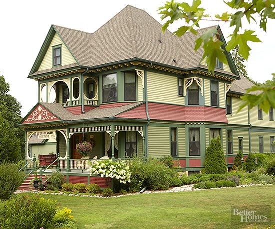 Our Favorite Exterior Color Combinations Painted Ladies Paint Chips And Terra Cotta