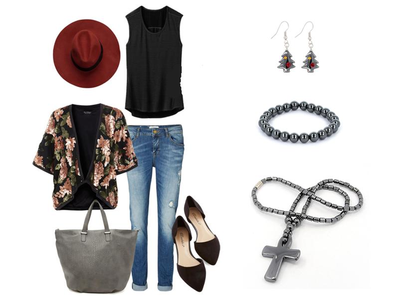 34ce15f60 Ponúkame vám malú inšpiráciu, k čomu doladiť naše krásne hematitové šperky  :) Jednoduchý outfit