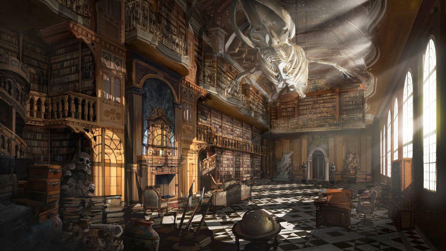 Wallpapers Gaming Artworks Digital Art Grand Library Fantasy Landscape Environment Concept Art