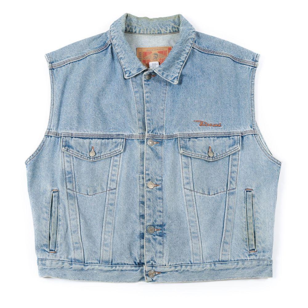 Vintage Diesel Sleeveless Denim Jacket Men S Xl Retro Jeans Jean Coat Vest Sleeveless Denim Jacket Mens Sleeveless Denim Jackets Retro Jeans [ 1000 x 1000 Pixel ]