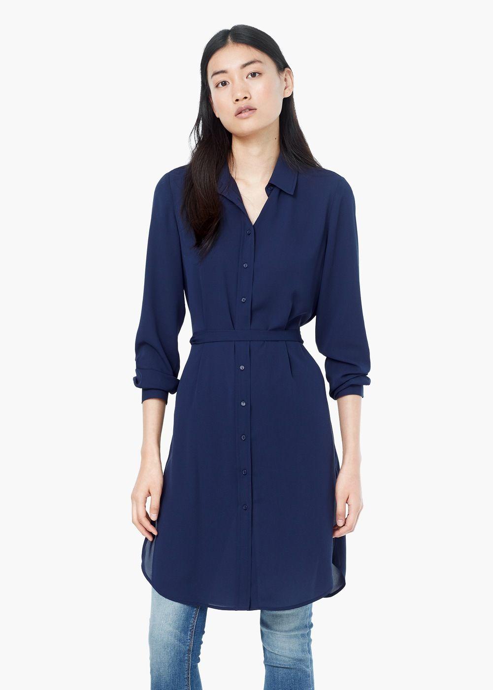 0ac6b141e Camisa larga fluida - Mujer en 2019