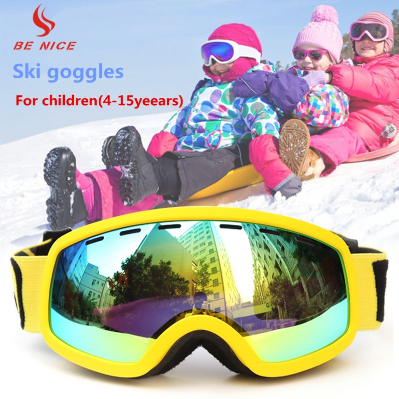 891cecddd90 BENICE Kids Boys and Girls Ski Goggles With Dual Lens Anti-Fog UV  Protection Winter