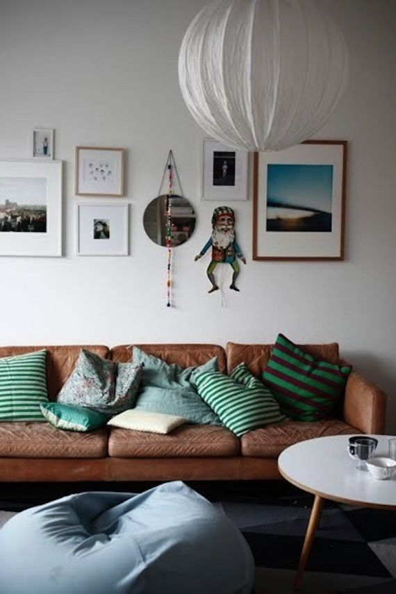 almofadas verdes