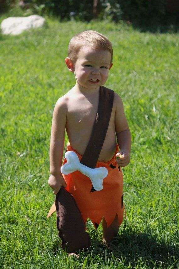 12/18 month size bam bam costume- and clubFlintstone costumes bam bam 2t 18 12 9 months