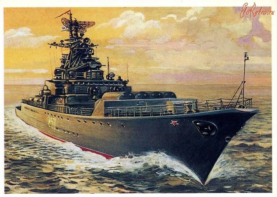 Военный корабль постер