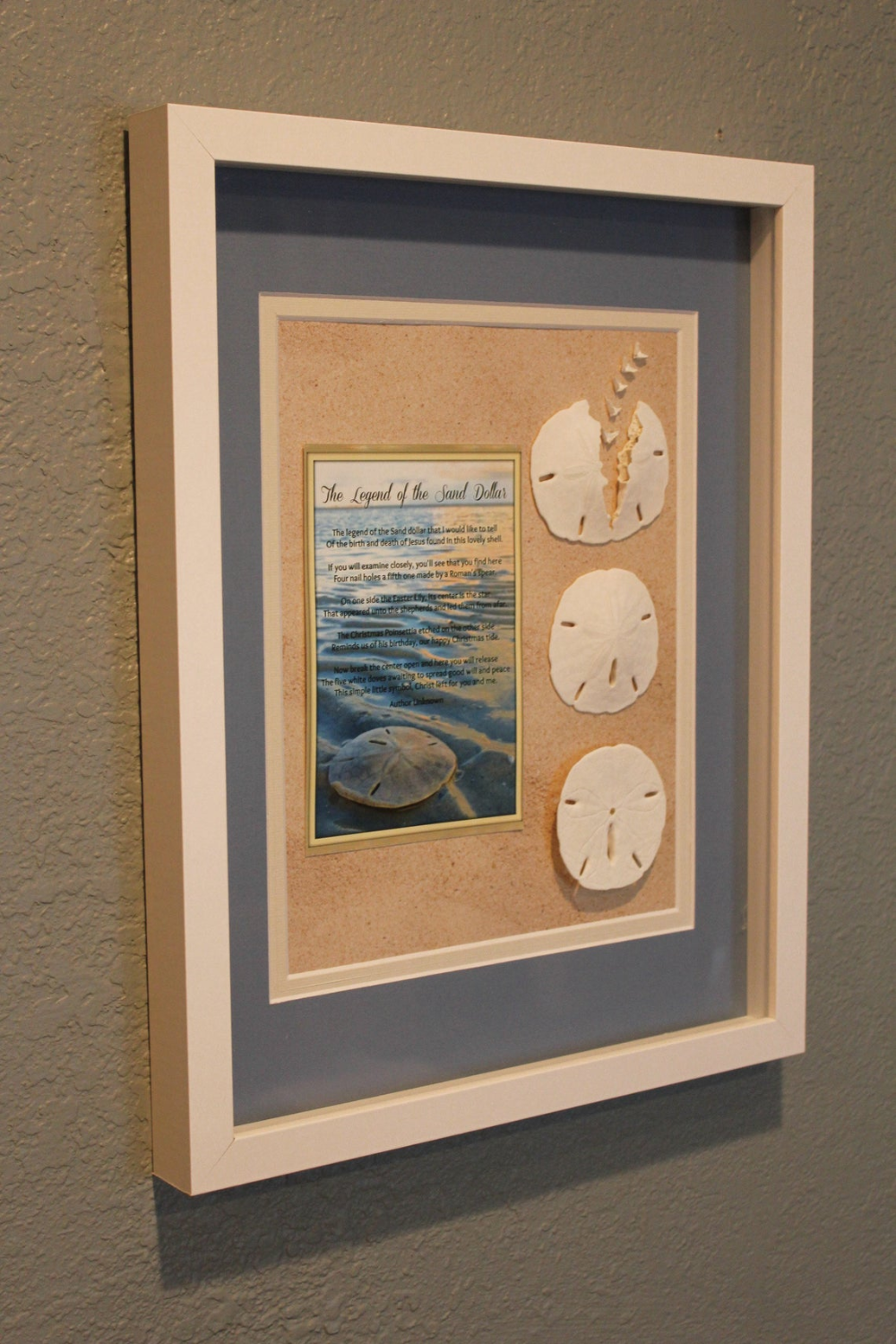 Legend Of The Sand Dollar Beach Art Shadowbox Coastal Nautical Etsy