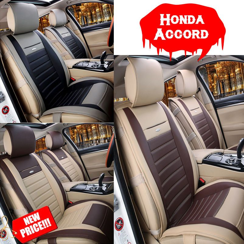 Cool Amazing Fit Honda Accord Super Car Interior Seat Cover Cushion PU Leather 5