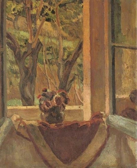 Flowers by the open window, Vanessa Bell. English (1879 - 1961)