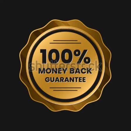 100 Percent Money Back Guarantee Online Payment Label Vector Online Stock The 100 Money