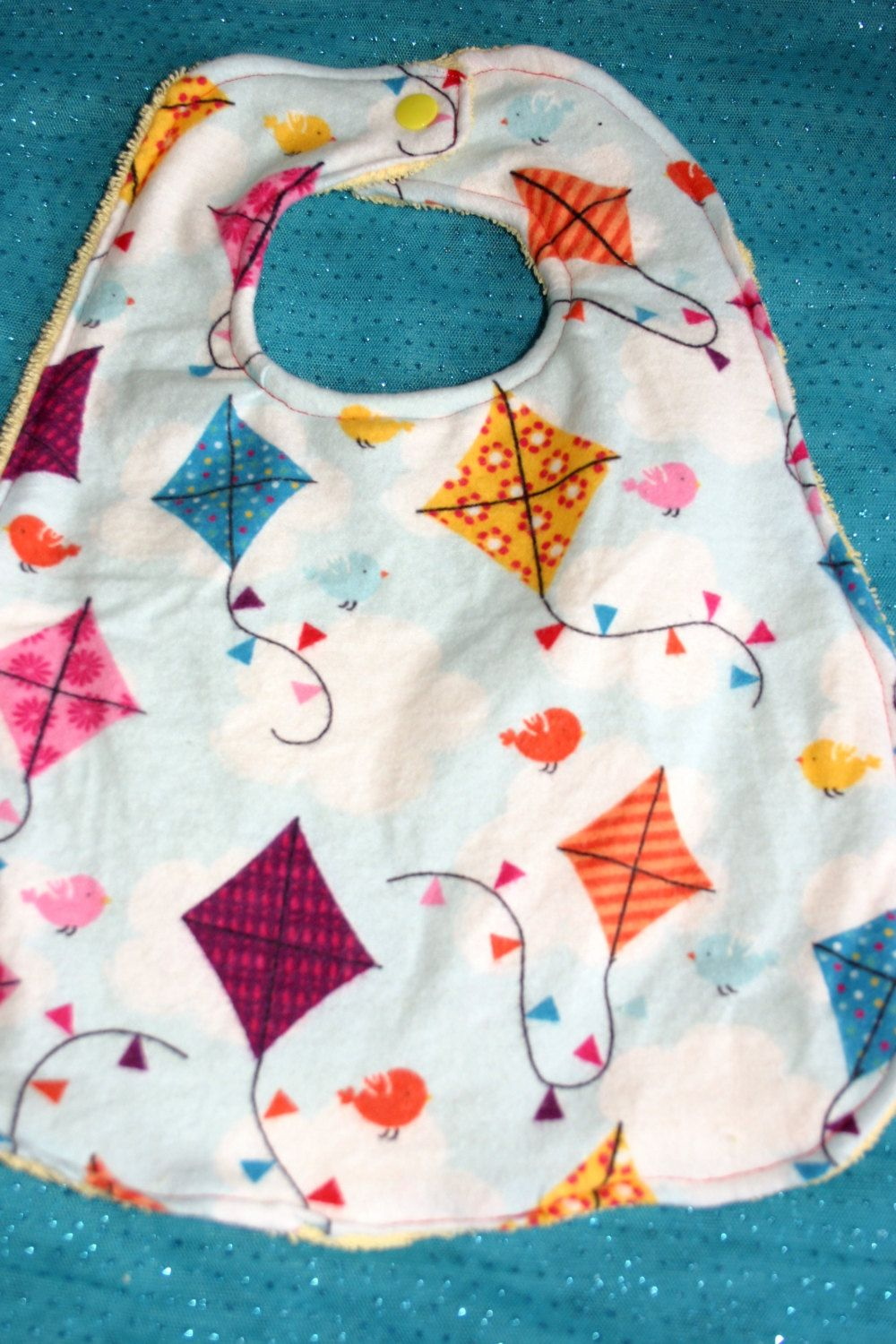 Let's Go Fly a Kite.......Then Have a Snack in Our Kite Bib by BeautyandJoy on Etsy