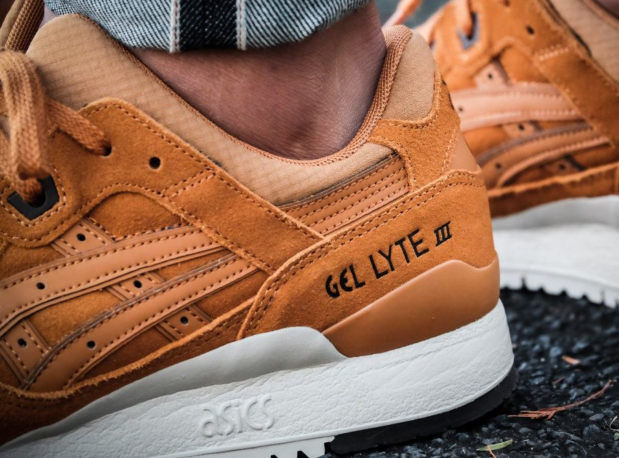 chaussure asics gel lyte 3 iii suede ginger honey HL7U2 3131