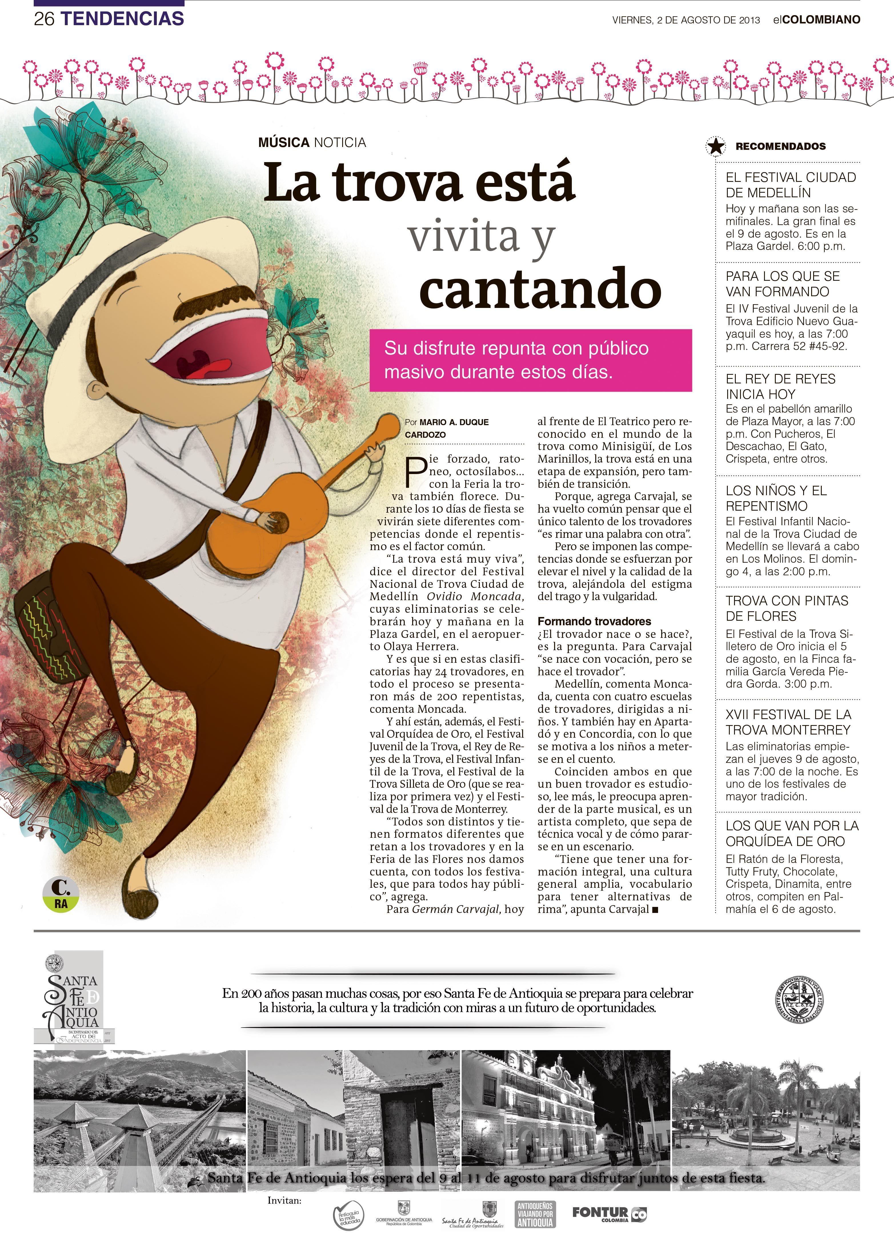 Ilustración creada para periódico El Colombiano @Perfil Btl ...