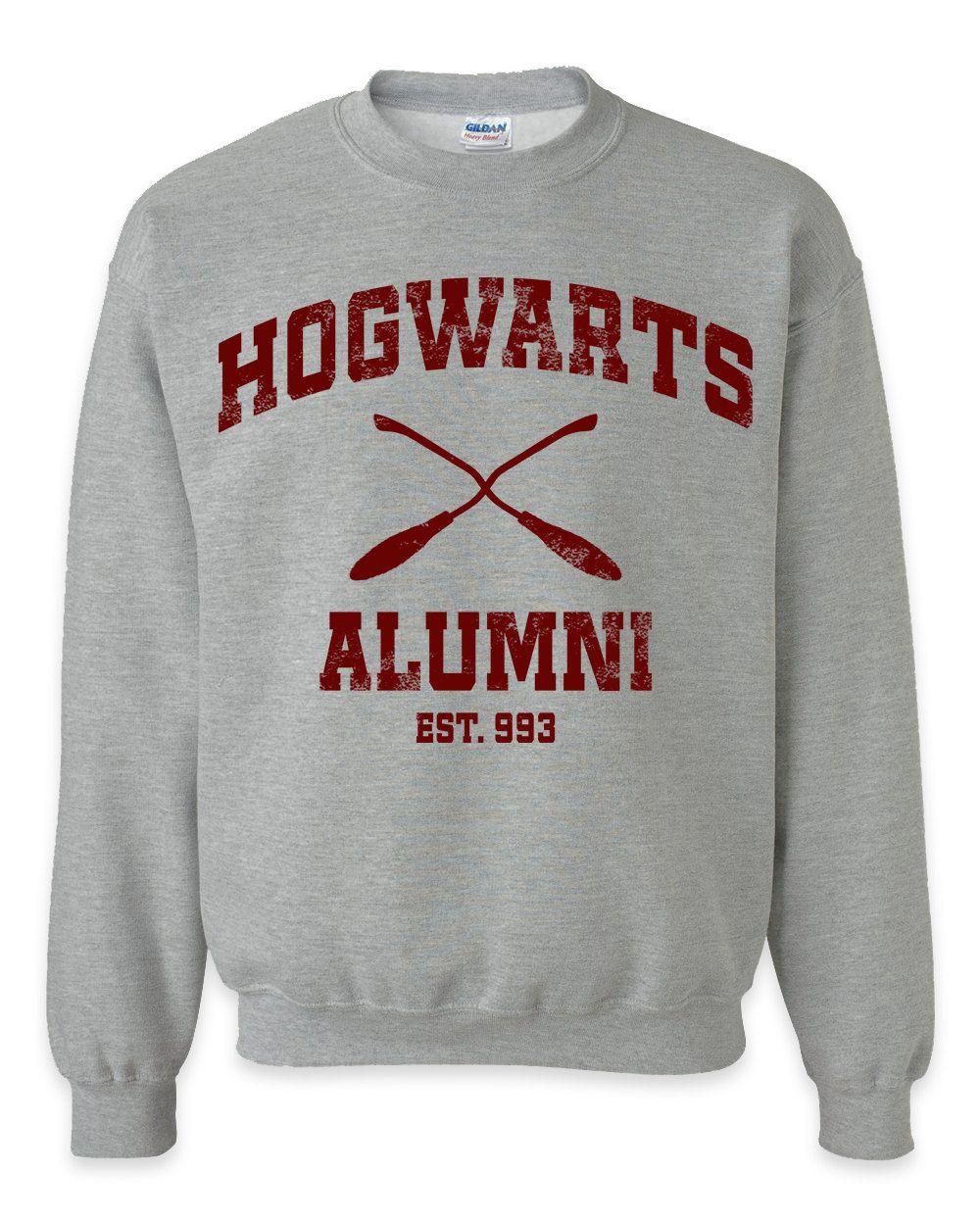 Hogwarts Alumni Grey Crewneck Sweatshirt Hufflepuff Hogwarts Gryffindor Crewneck Sweatshirt Slytherin Quidditch Hogwarts Alumni Sweatshirts Unisex Sweatshirt [ 1250 x 1000 Pixel ]