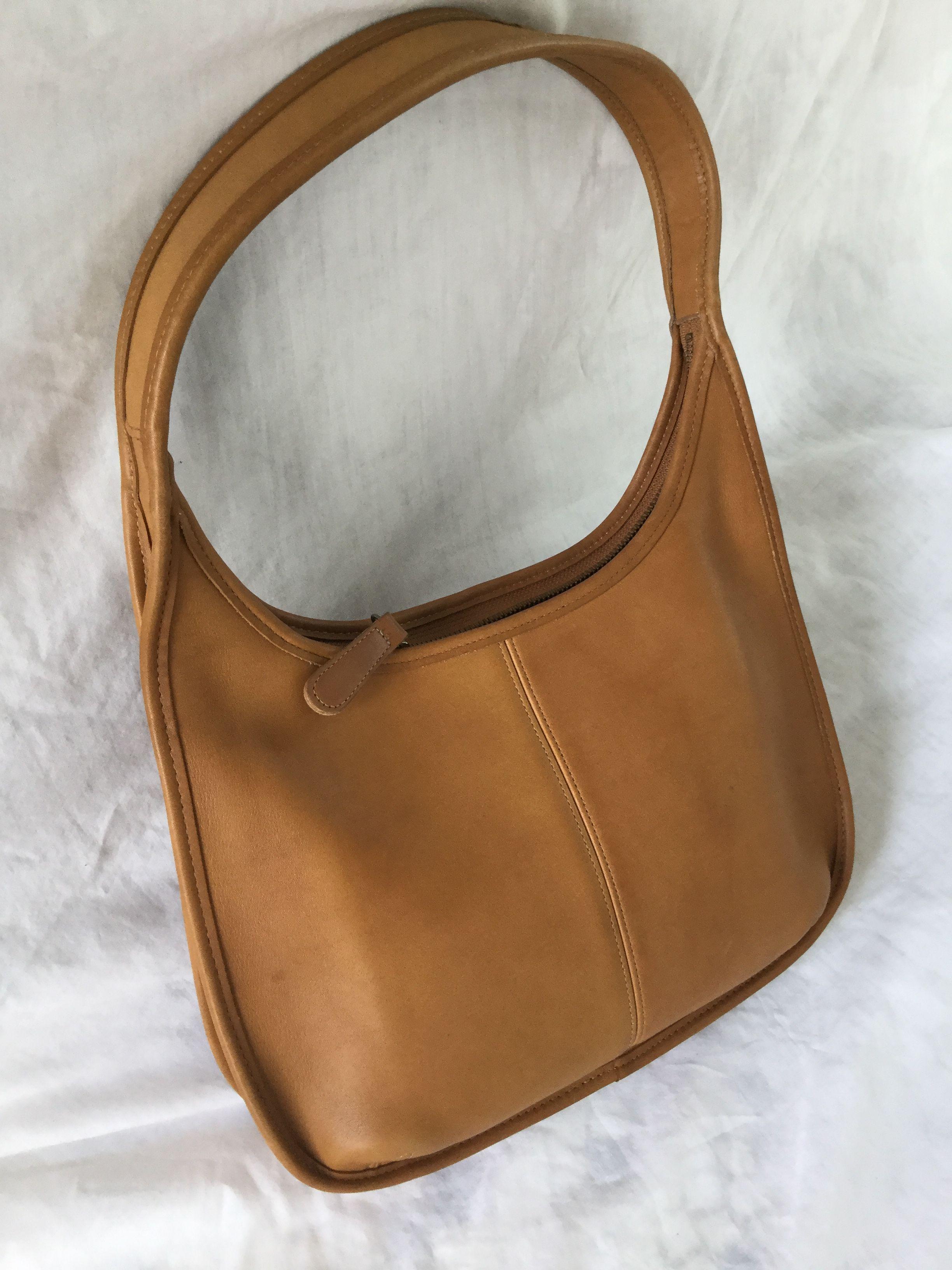 cad13da1e51f Discover ideas about Brown Leather Handbags. Auth M Clifford Garbo Hobo Bag  Dark Tan ...