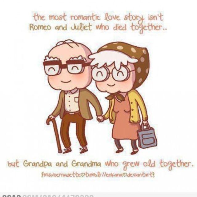 Growing old together.  Este é o amor verdadeiro :)