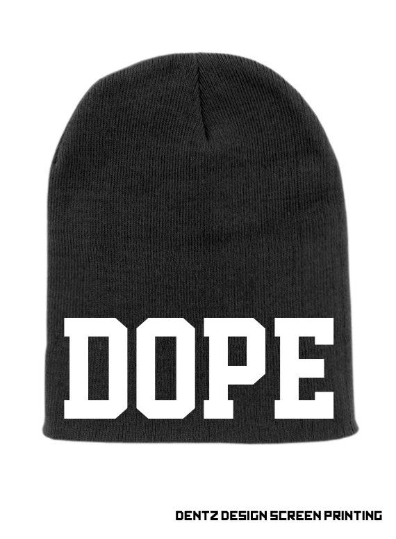 new concept 496f7 b52e0 Black DOPE Beanie Slouchy Knit Hat