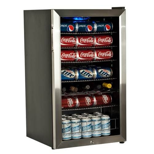 Edgestar 103 Can And 5 Bottle Ultra Low Temperature Beverage Cooler Black And Stainless Steel Beverage Refrigerator Beverage Cooler Beverage Center
