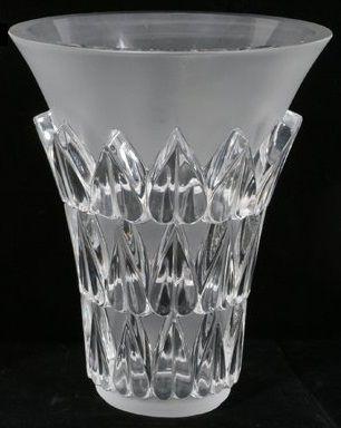 Vase Feuilles £465    Lalique Bicester  Mail Order 01869 252444