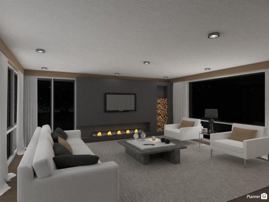 Living Room Interior Design White Black Brown Color Interior Modern Living Room Living Room Planner Interior Design Tools Home Design Software