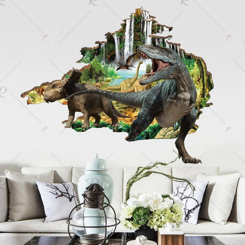 wall stickers 3d dinosaur bedroom decoration floor on wall stickers 3d id=41905