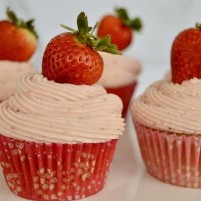 Strawberry Cupcakes from Scratch - Print