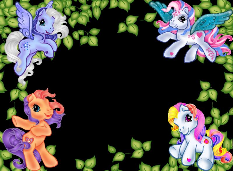 Pin de Fernanda Reyes en bordes infantiles | Pony, Little pony y My ...