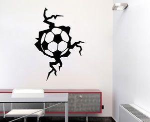 Wandtattoo Wandaufkleber Deko Sport Art Fußball Ball In Der Wand .