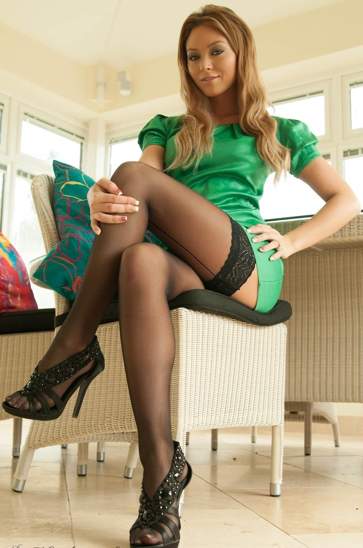 Lovely legs in stockings