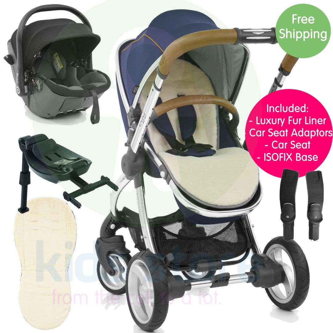 Egg Pram Gunmetal Egg Regal Navy Stroller With Kiddy Evoluna I Size Car Seat