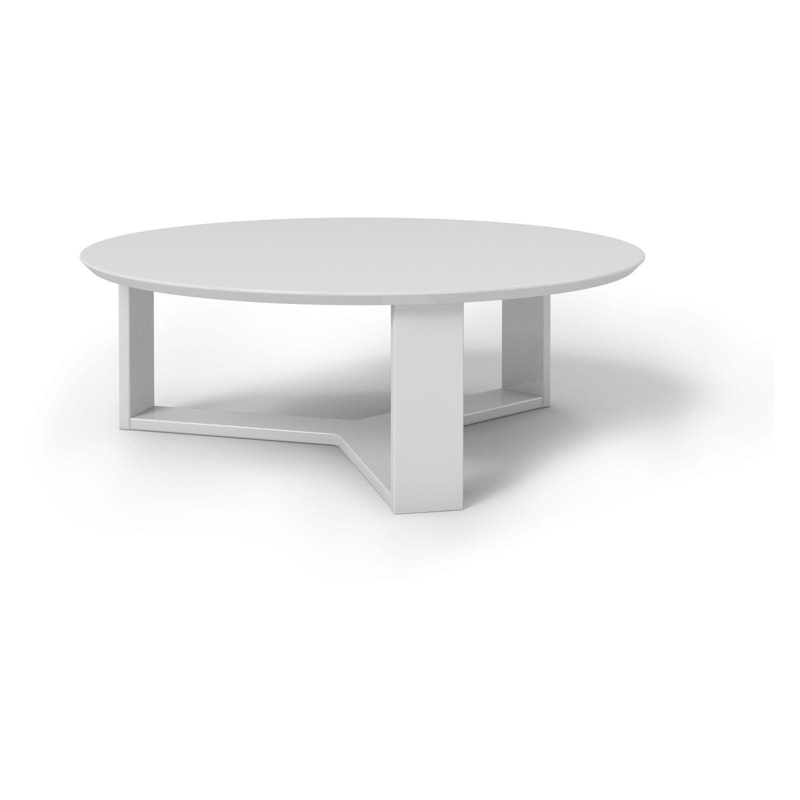 Best Manhattan Comfort Madison 1 Round Coffee Table White 400 x 300