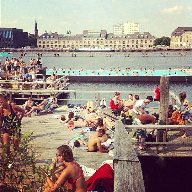 ღღ  Badeschiff, Berlin....  So FUN!!!