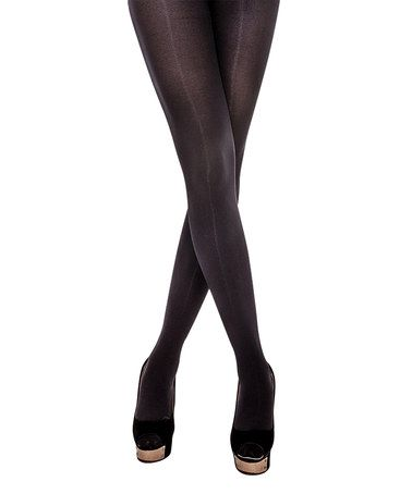 Love this Black Microfiber 3D Extra Opaque Tights on #zulily! #zulilyfinds